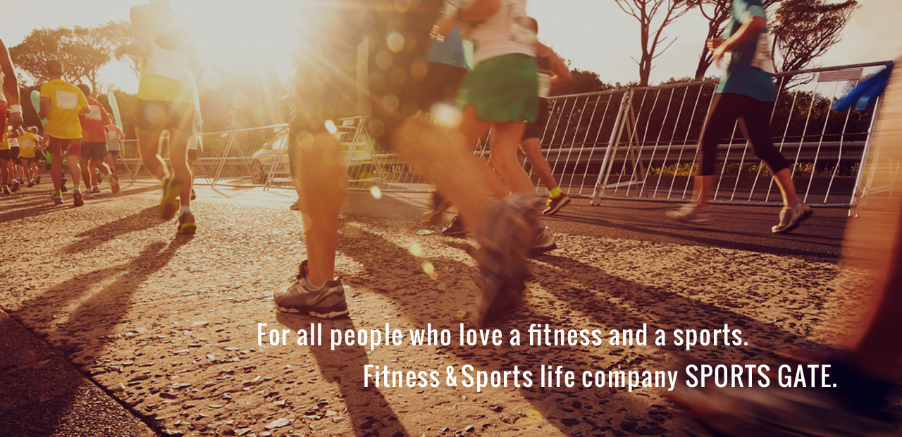 For all people who love a fitness and a sports. Fitness&Sports life company SPORTS GATE.